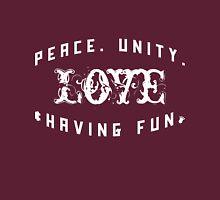 Peace. Unity. Love & Having Fun [Wht] | Zulu Nation Shirt | Fresh Threads Unisex T-Shirt