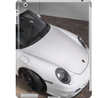Porsche 911 turbo in white ipad cover iPad Case/Skin