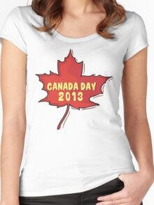 Canada Day 2013 Women's Fitted Scoop T-Shirt