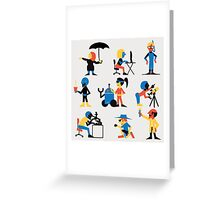 9 Scientists Greeting Card