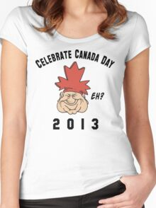 Canada Day 2013 Eh Women's Fitted Scoop T-Shirt