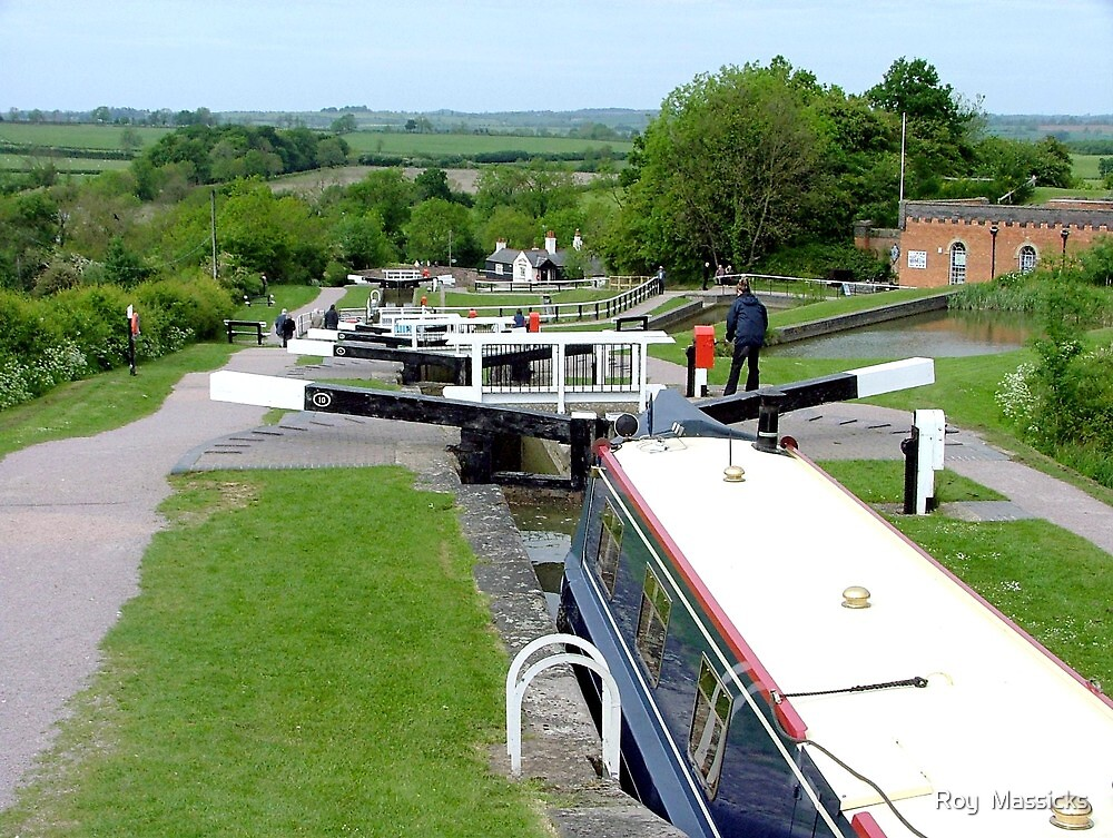 A grand view down........Foxton Locks, UK ! by Roy  Massicks