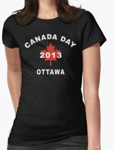 Canada Day 2013 Ottawa Womens Fitted T-Shirt
