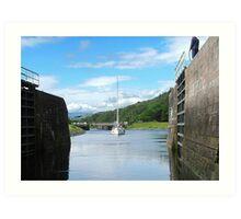 Entering Gairlochy Lock...............Scotland ! Art Print
