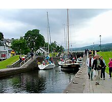 Fort Augustus Locks, Southern end Loch Ness, Scotland. Photographic Print