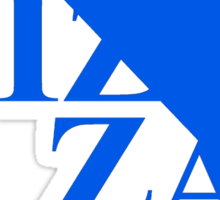 Pizzavangelion Team Shirt Blue Logo Sticker