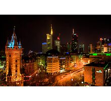 Downtown at Night Photographic Print