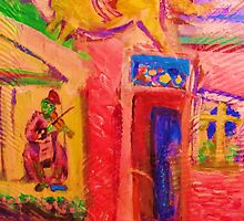 Green Fiddler & Acrobat by artqueene