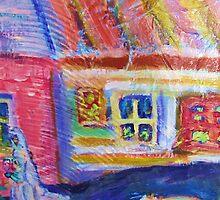 Bride & Dog in the Village by artqueene