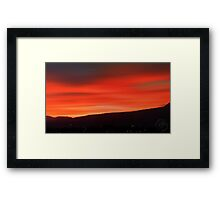 ©HCS Red Movement III Framed Print
