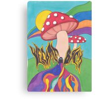 The Mushrooms Welcome You Back Canvas Print