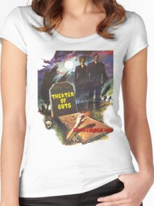 Theater Of Guts design 3 Women's Fitted Scoop T-Shirt