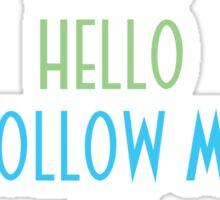 Oddworld Abe's Oddysee Hello (Blue & Green) Sticker