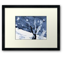 Abstract in Blues XXVVII Framed Print