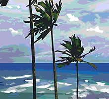 Three Palms by Douglas Simonson