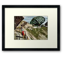 Greetings from The Hotel Pilates-Klum! Framed Print