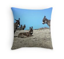 Wild Ass Times Throw Pillow