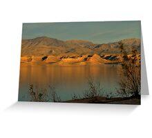 Sunset At Lake Mead Greeting Card