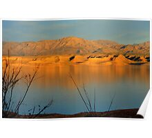 Sunset At Lake Mead Poster