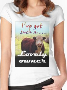 LOVELY OWNER Women's Fitted Scoop T-Shirt