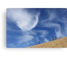 Sky and sand dune - Fraser Island 2011 Canvas Print