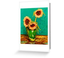 Homage to Vincent Greeting Card