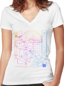 Math & Science Tools 2 Women's Fitted V-Neck T-Shirt