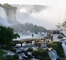 Walkway at the Iguassu Falls by Mark Prior
