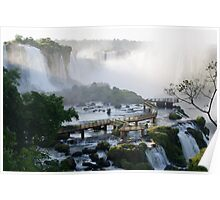 Walkway at the Iguassu Falls Poster