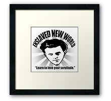 Aldous Huxley's Enslaved New World (Light) Framed Print