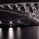 b&w Forth Rail Bridge. by ninjabob