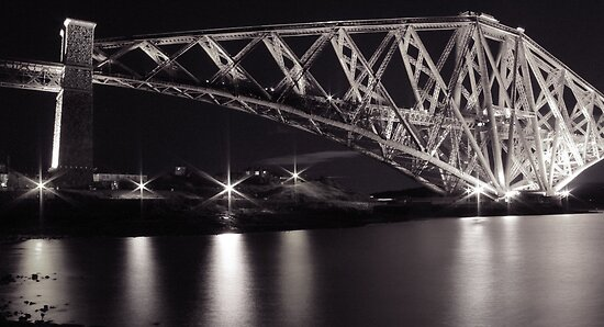 b&w Forth Rail Bridge. by ninjabob