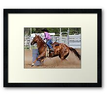 Barrel Racer Framed Print