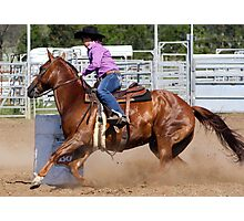 Barrel Racer Photographic Print