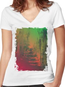 The Beaten Track 2.0 Women's Fitted V-Neck T-Shirt