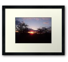 Evening Sunset 2 Framed Print