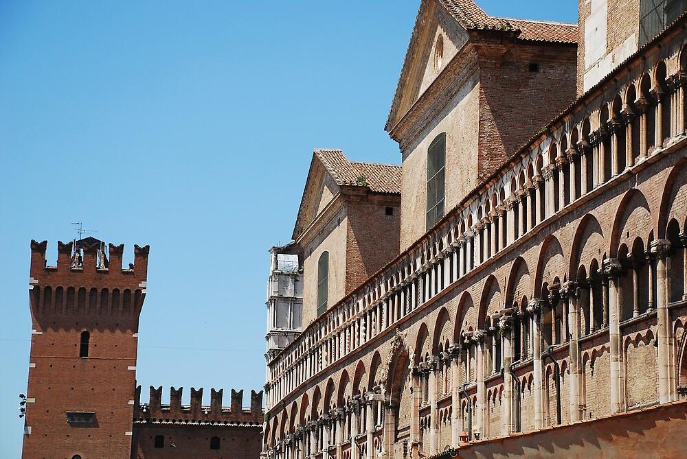 Buildings in Piazza Trento e Trieste, Ferrara by jojobob