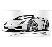 Lamborghini LP560/4 Spyder White Poster