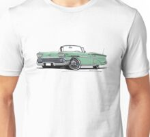 Chevrolet Bel Air Impala Convertible (1958) Light Green Unisex T-Shirt