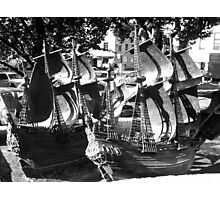 Small Ships Photographic Print