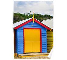 Primary Colours - Brighton Beach Boxes - Australia Poster