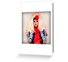 Drag Queen with blond wig Greeting Card