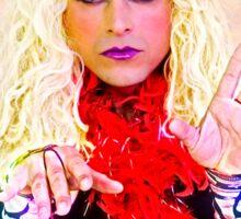 Drag Queen with blond wig Sticker