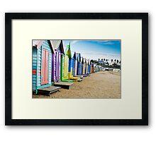 Location, Location, Location - Brighton Beach Boxes - Australia Framed Print