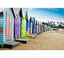Location, Location, Location - Brighton Beach Boxes - Australia Photographic Print