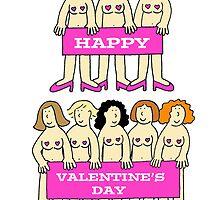 Valentine burlesue ladies. by KateTaylor