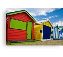 Colour wheel - Brighton Beach Boxes - Australia Canvas Print