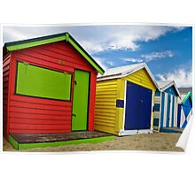Colour wheel - Brighton Beach Boxes - Australia Poster