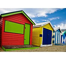 Colour wheel - Brighton Beach Boxes - Australia Photographic Print