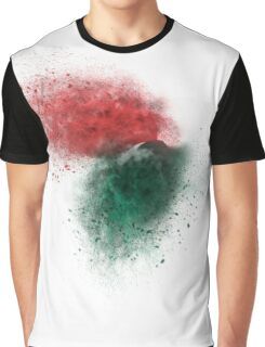 exploding red and green wooden building blocks Graphic T-Shirt